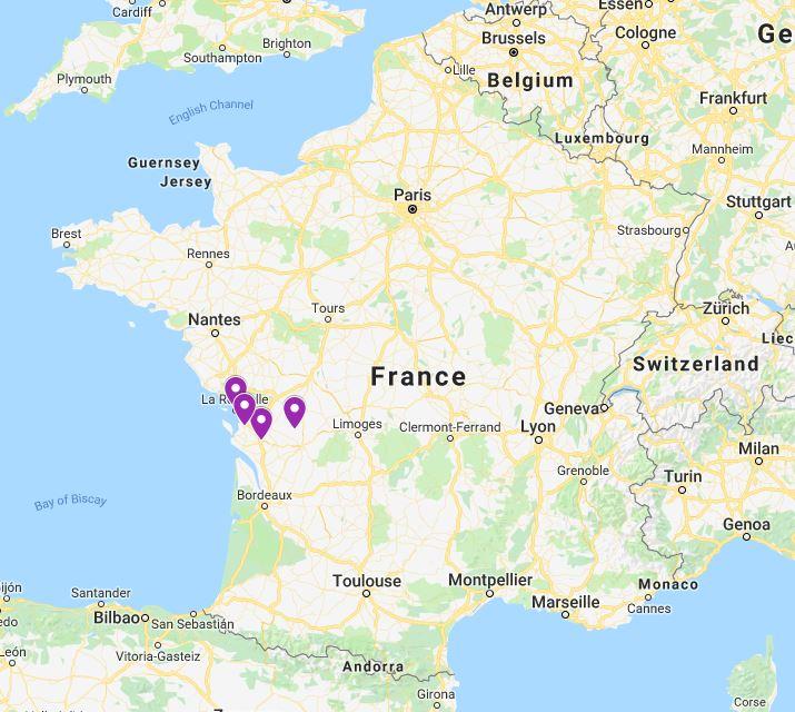 Map Of France La Rochelle.A Visit To Violet France Violette Registry